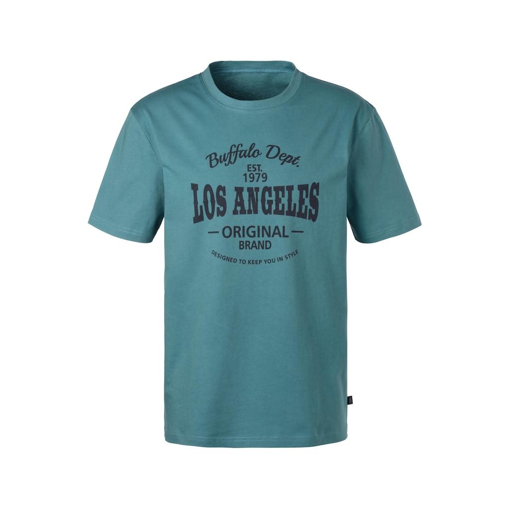 Buffalo T-Shirt, mit Los Angeles Print vorn