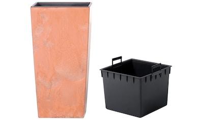 Prosperplast Pflanzkübel »Urbi Square Effect«, BxTxH: 26,5x26,5x50 cm kaufen