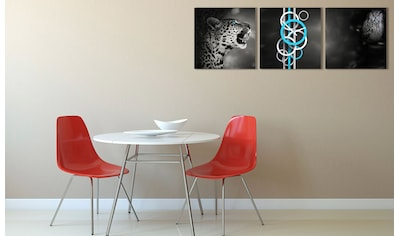 Conni Oberkircher´s Bild »Wild Nature«, Tiger, (Set), mit dekorativer Uhr kaufen