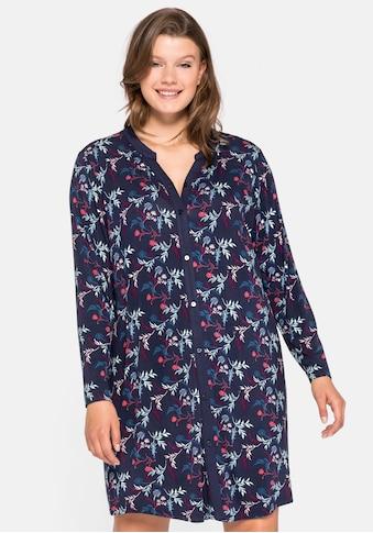 Sheego Nachthemd, mit floralem Alloverdruck kaufen