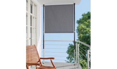 Angerer Freizeitmöbel Klemm-Senkrechtmarkise, grau, BxH: 120x275 cm kaufen