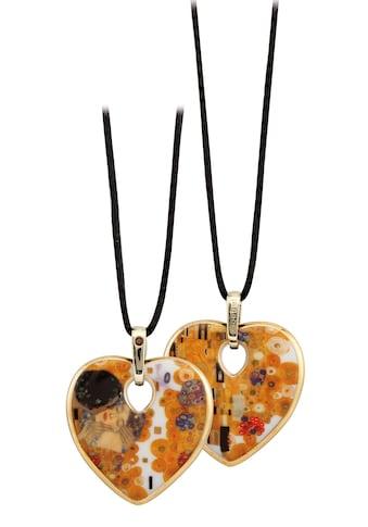 Goebel Kette mit Anhänger »Der Kuss, Artis Orbis Gustav Klimt, 67045101«, mit Swarovski® Kristall kaufen