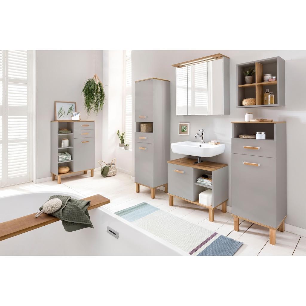 Schildmeyer Waschbeckenunterschrank »Padua«, Füße aus Massivholz