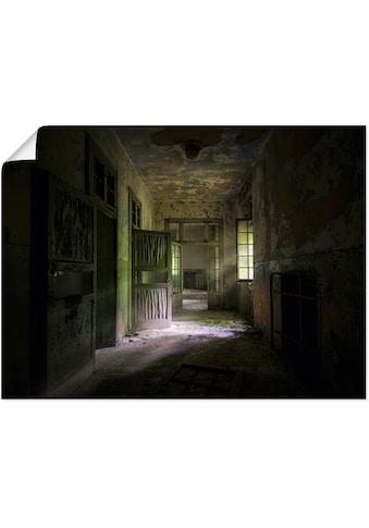 Artland Wandbild »Lost Place Düsterer Flur Türen Gang«, Fenster & Türen, (1 St.), in... kaufen