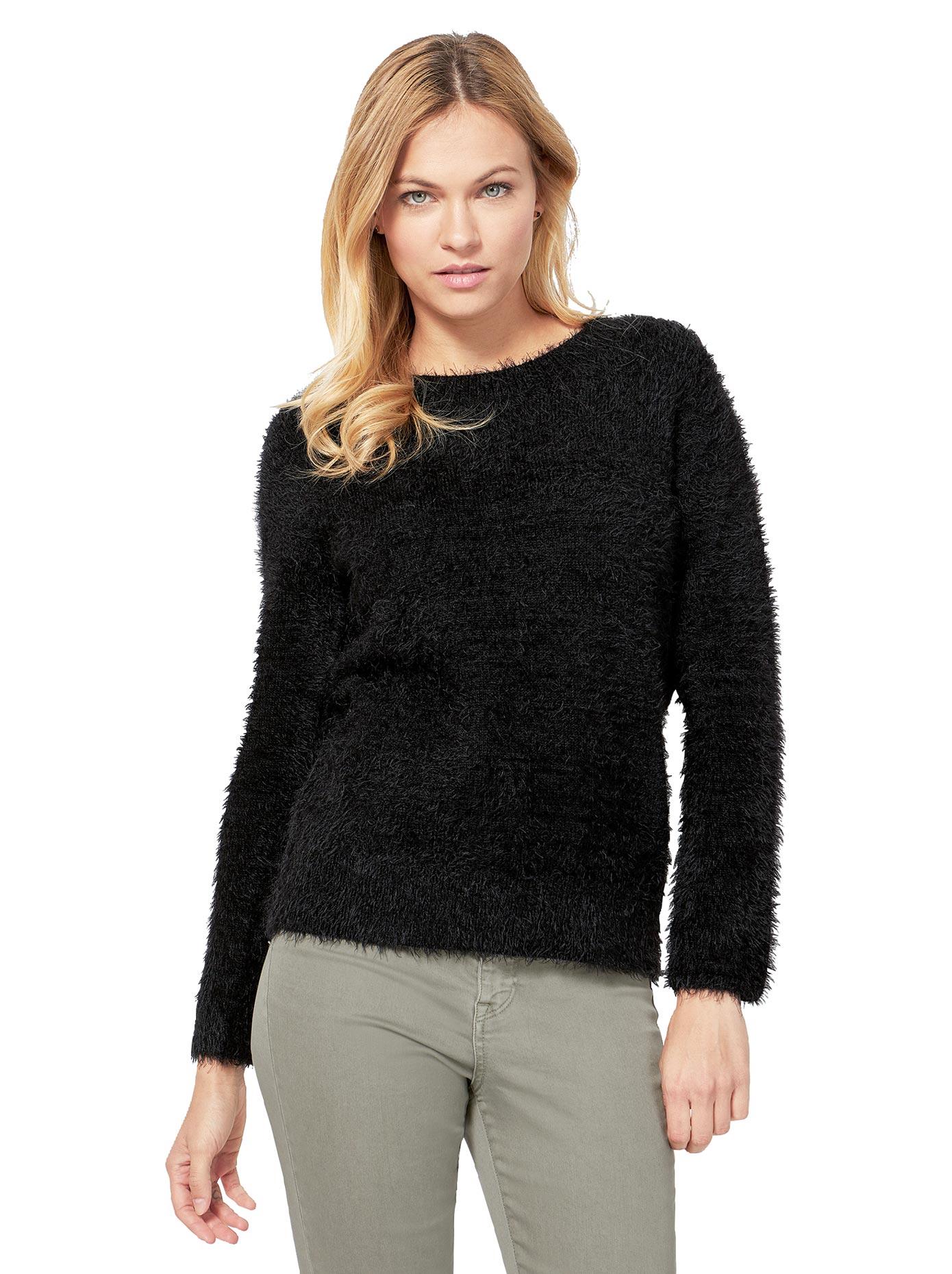 création L Pullover mit Rundhals-Ausschnitt | Bekleidung > Pullover | Schwarz | Creation L