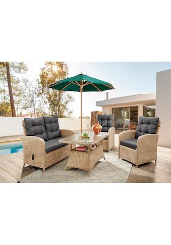 Destiny Loungeset »MERANO II«, (Set), Sofa Set natur meliert, Polster grau,... kaufen