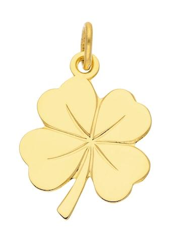 Adelia´s Kettenanhänger »585 Gold Anhänger Kleeblatt«, Goldschmuck für Damen kaufen