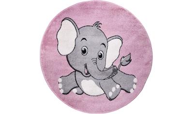 Festival Kinderteppich »Candy 155«, rund, 11 mm Höhe, Motiv Elefant kaufen