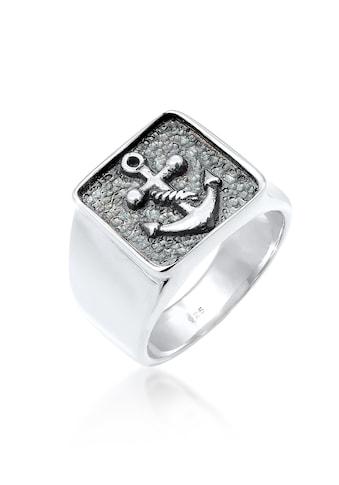 Kuzzoi Silberring »Herren Siegelring Anker Symbol Oxidiert 925 Silber« kaufen