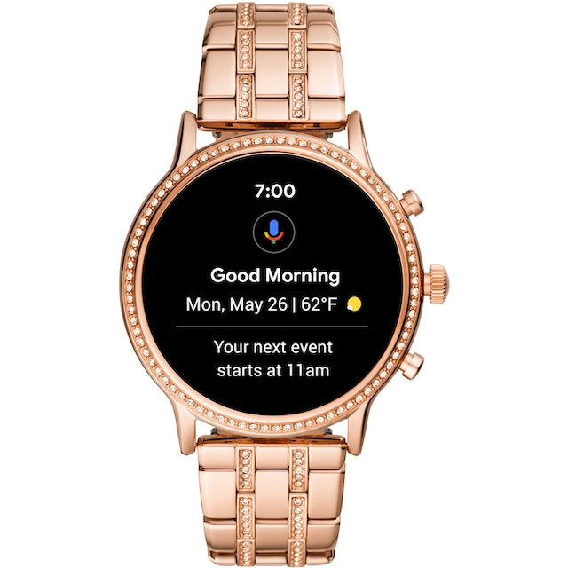 Fossil Smartwatches JULIANNA HR SMARTWATCH, FTW6035 Smartwatch ( 1.28 Zoll, Wear OS by Google)