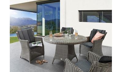 Destiny Essgruppe »LUNA«, (Set, 13 tlg.), 4 Sessel, Tisch Länge 120 cm, pflegeleichtes... kaufen