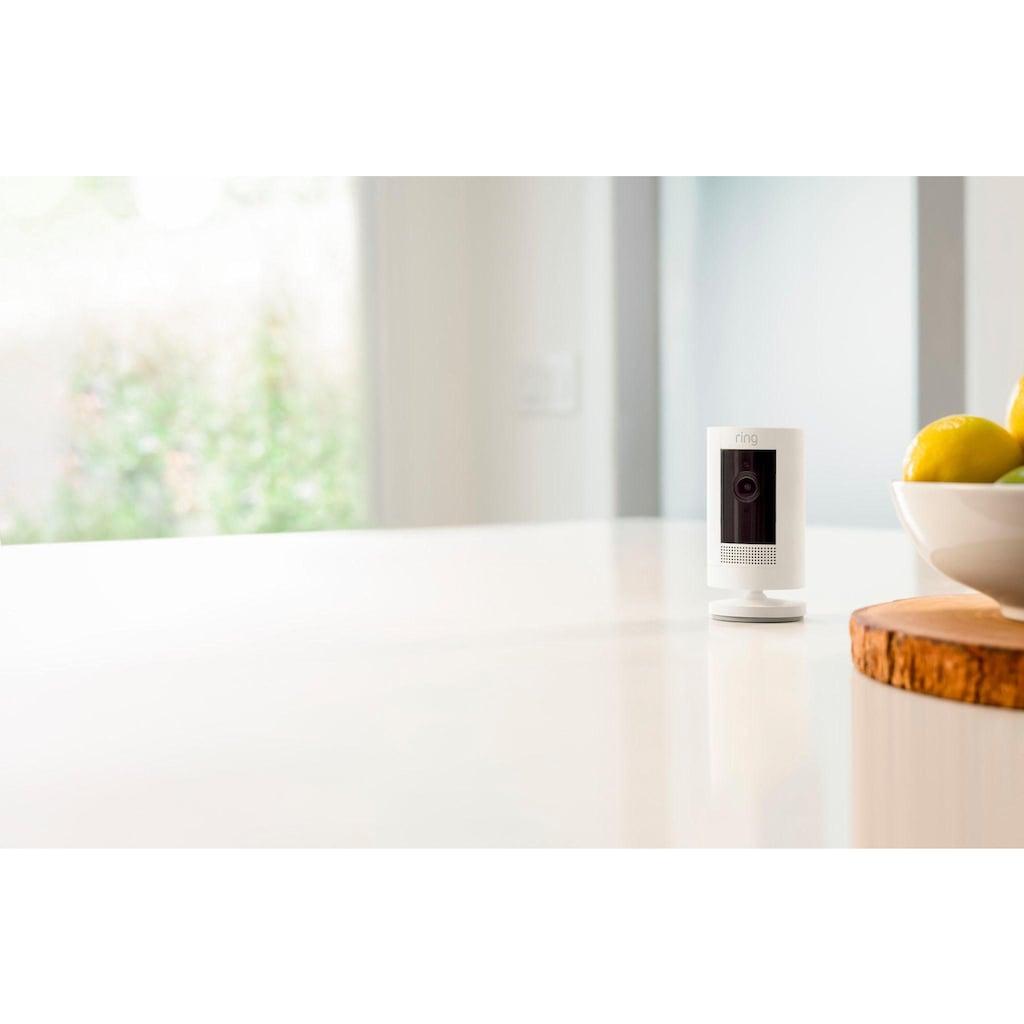 Ring Smart Home Kamera »Stick Up Cam Battery - White Gen 3«, Außenbereich-Innenbereich