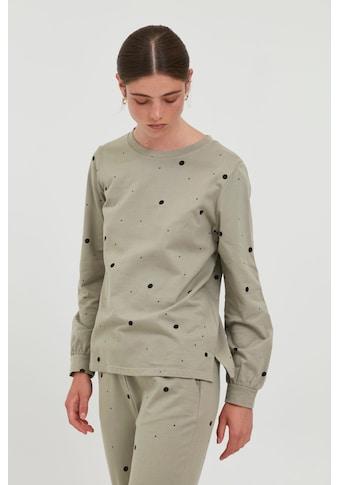 Ichi Sweatshirt »IHSTELLA LS 20114858«, modischer Sweater im Punkte oder Leo-Look kaufen
