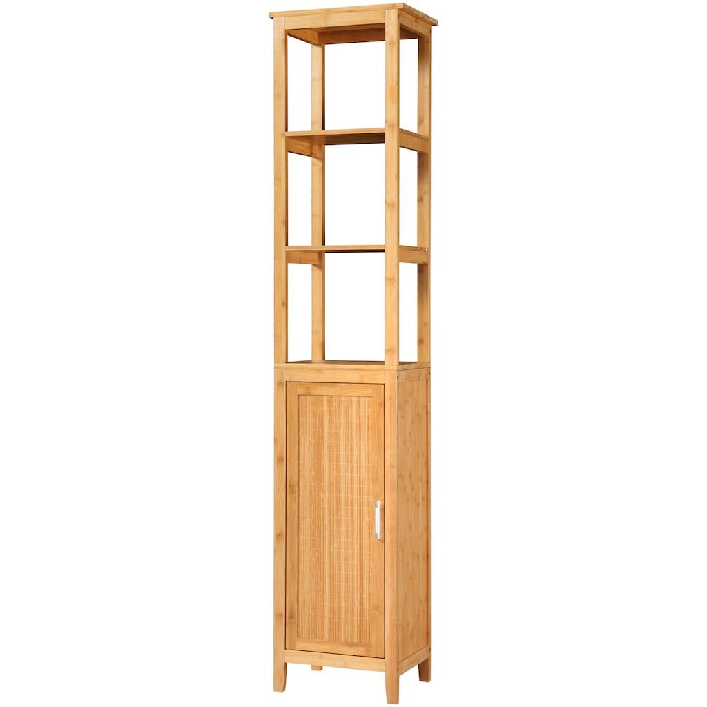 KONIFERA Hochschrank »Bambus New«, Breite 40 cm, aus natürlichem Bambus gefertigt, stabil, solide und umweltfreundlich