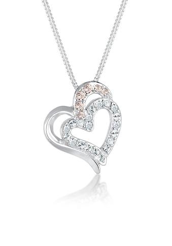 Elli Collierkettchen »Herz Funkeln Swarovski® Kristalle 925 Silber« kaufen