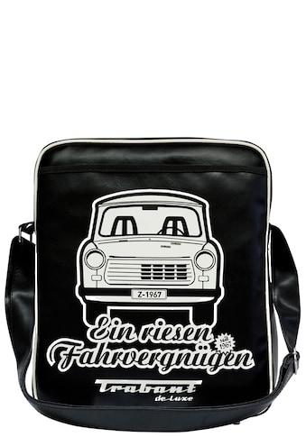 LOGOSHIRT Schultertasche mit kultigem Trabant - Frontdruck »Trabant  -  Ein riesen Fahrvergnügen« kaufen