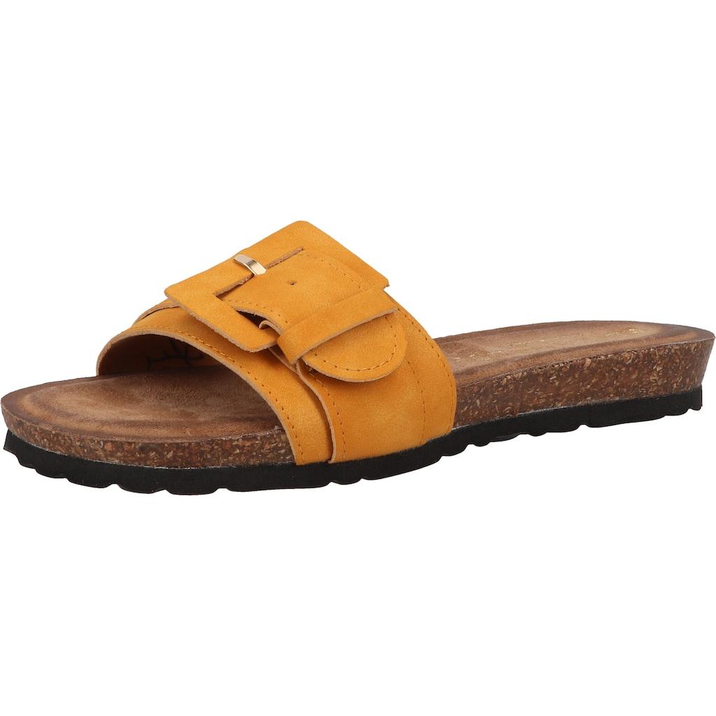 Lazamani Pantolette »Veloursleder«