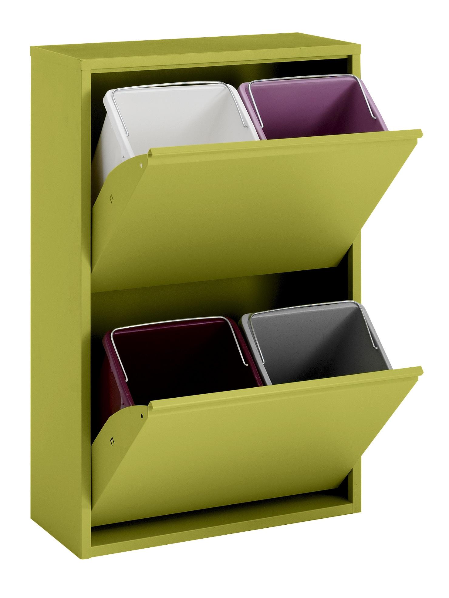 heine home Mülltrenner aus Metall Wohnen/Haushalt/Haushaltswaren/Reinigung/Mülleimer/Mülltrennsysteme