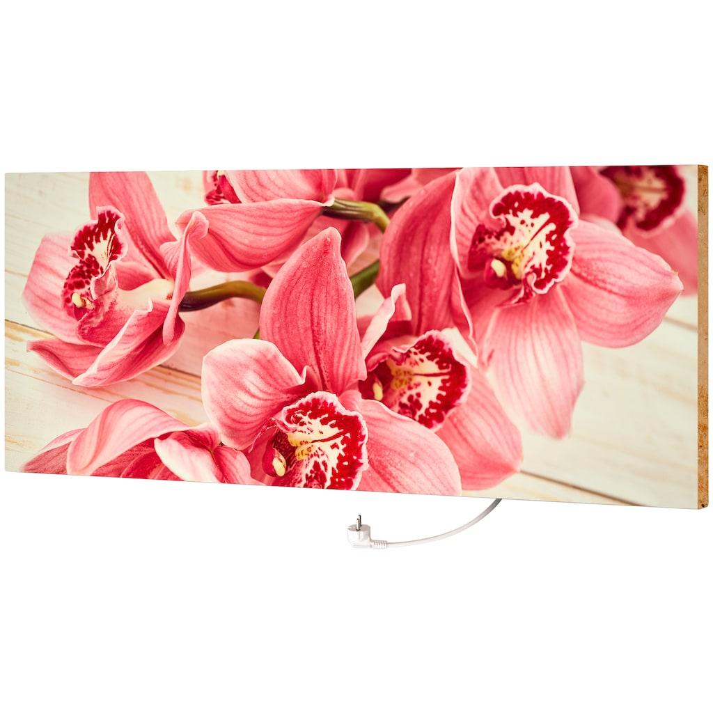 """Marmony Infrarotwandheizung »marmony® -Infrarot-MOTIV-Heizkörper """"Pink Orchidee"""", 800 Watt«, trocknet Wände und Mauerwerk, aus deutschem Jura-Naturstein"""