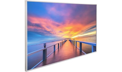 Papermoon Infrarotheizung »Steg ins Meer, EcoHeat«, Aluminium, 600 W, 100x60 cm, mit... kaufen