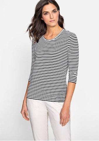 Olsen Rundhalsshirt, mit Streifen kaufen