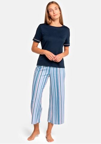 seidensticker Pyjama, mit gestreifter Caprihose kaufen