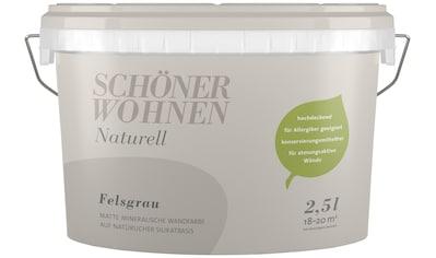 SCHÖNER WOHNEN FARBE Wand -  und Deckenfarbe »Naturell Felsgrau«, 2,5 l kaufen