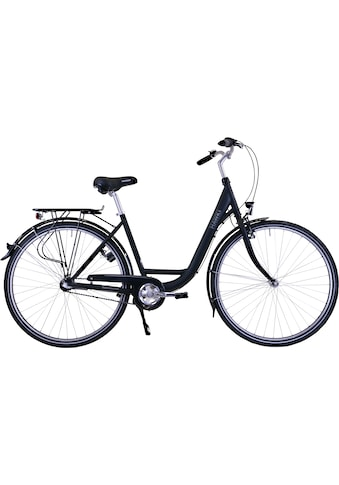 HAWK Bikes Cityrad »HAWK City Wave Premium Black«, 3 Gang, Shimano, Nexus Schaltwerk kaufen