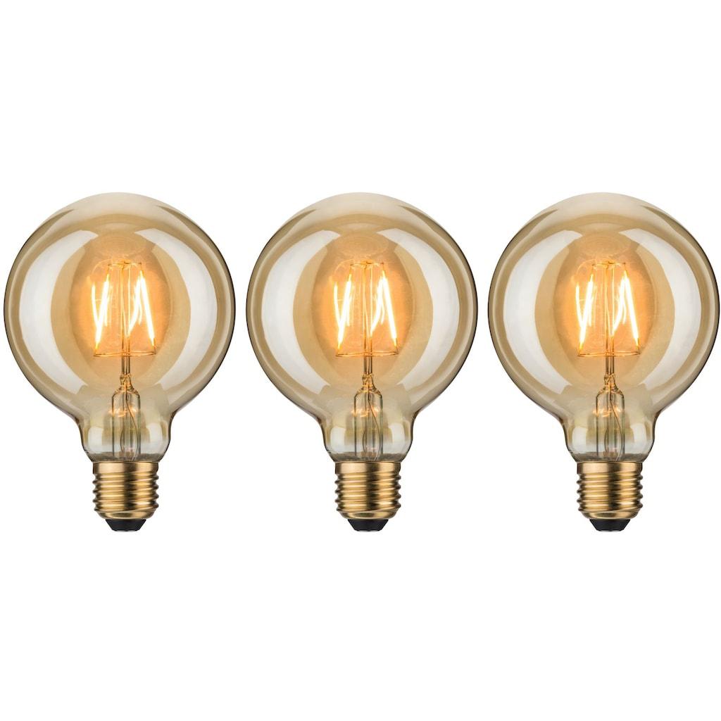 Paulmann LED-Leuchtmittel »3er Pack 2,5 W Vintage Globe 95 goldlicht E27 1700K«, E27, 3 St., Extra-Warmweiß