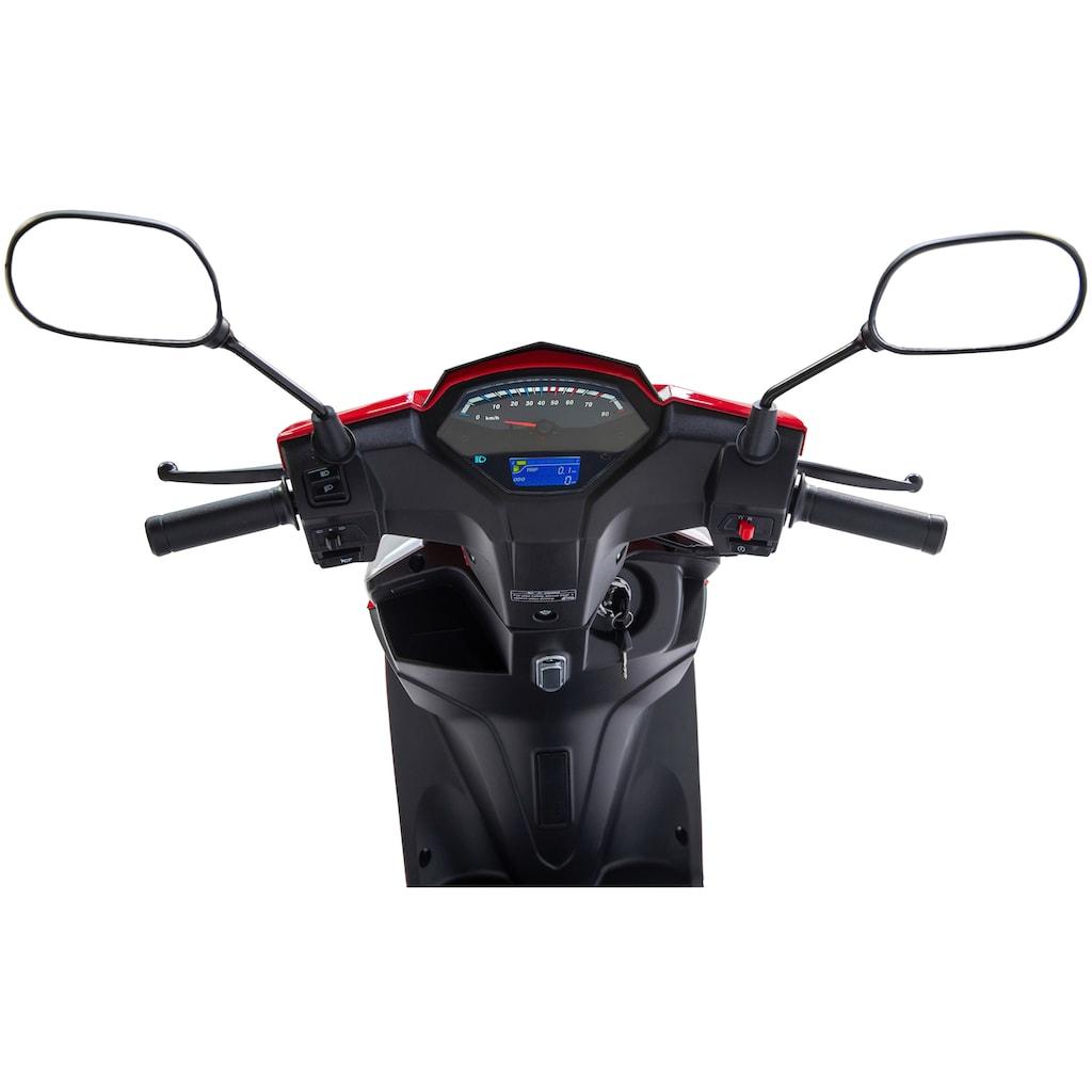 GT UNION Motorroller »Sonic X 45«, 3 PS, mit Topcase