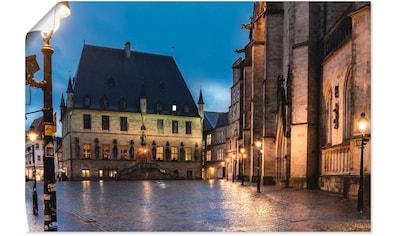 Artland Wandbild »Rathaus Osnabrück I«, Gebäude, (1 St.), in vielen Größen &... kaufen