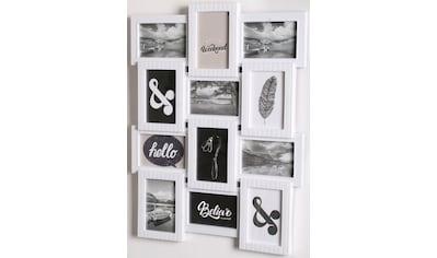 Home affaire Bilderrahmen Collage, für 12 Bilder, (1 St.), Fotorahmen, weiß kaufen