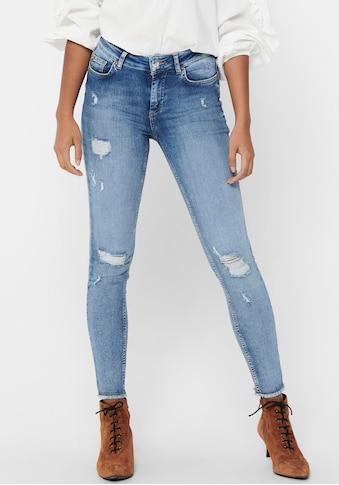 Only Skinny-fit-Jeans »ONLBLUSH LIFE«, mit großen Destroyed Effekten kaufen