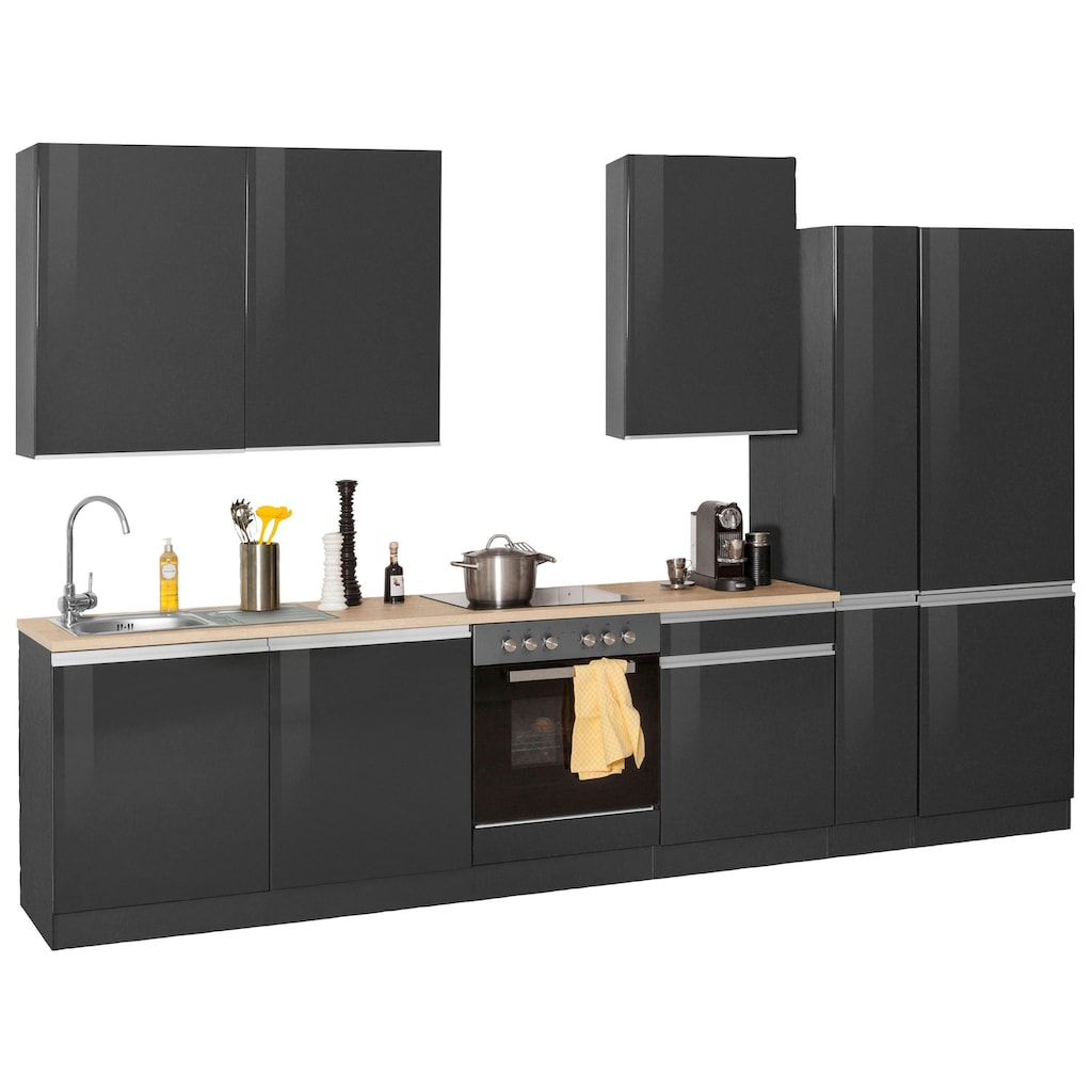 HELD MÖBEL Küchenzeile »Ohio«, ohne E-Geräte, Breite 330 cm
