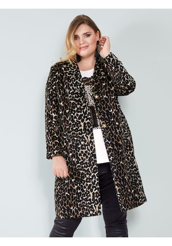 Sara Lindholm by HAPPYsize Mantel aus Webpelz kaufen