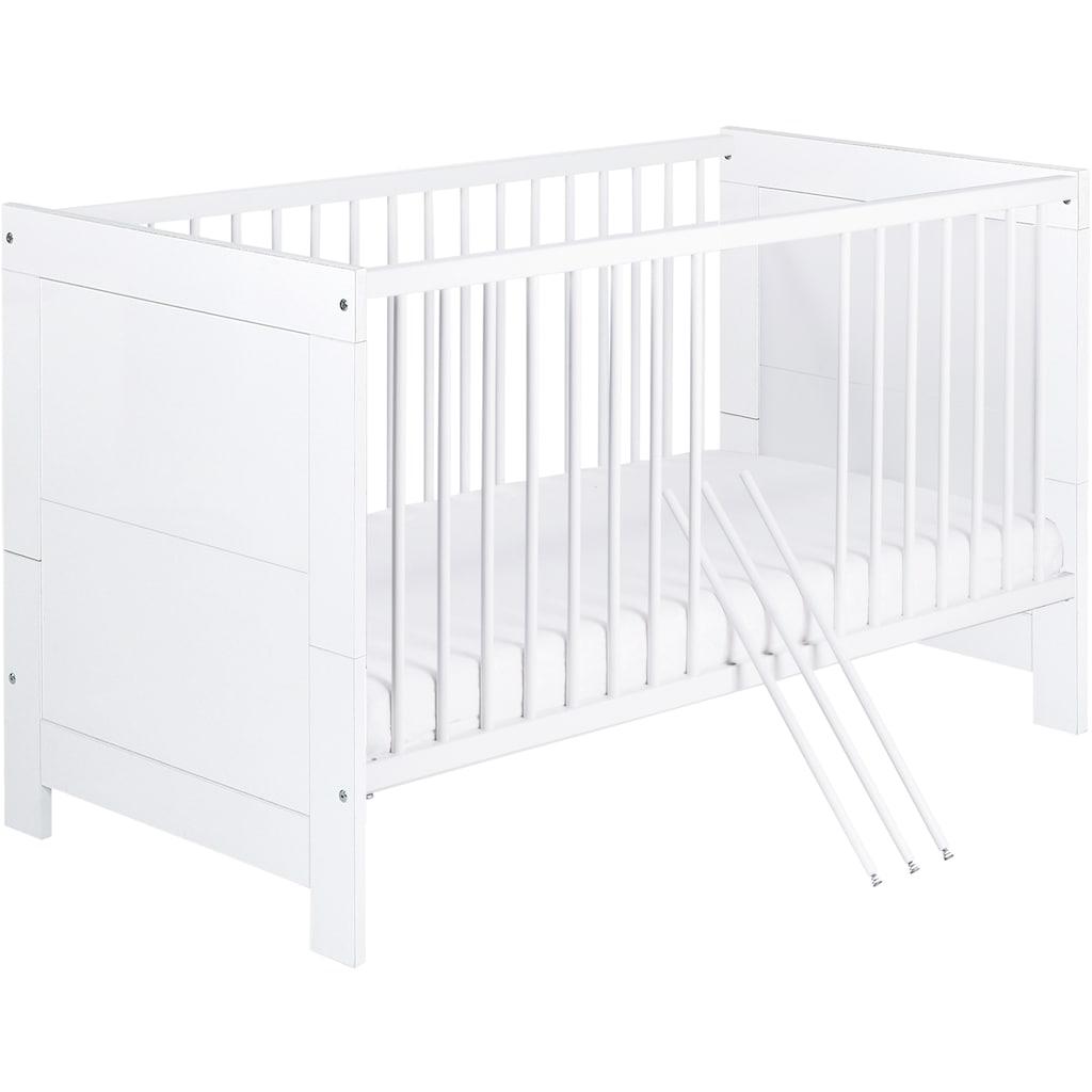 Schardt Babyzimmer-Komplettset »Nordic White«, (Set, 3 St.), Made in Germany; mit Kinderbett, Schrank und Wickelkommode