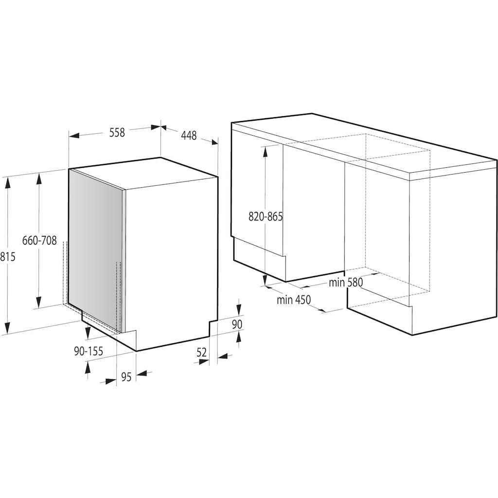 GORENJE vollintegrierbarer Geschirrspüler »GV52040«, GV52040, 9 Maßgedecke
