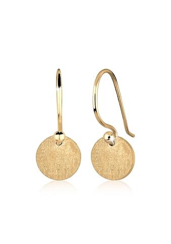Elli Paar Ohrhänger »Ohrhänge Plättchen Kreis Matt 925 Silber« kaufen