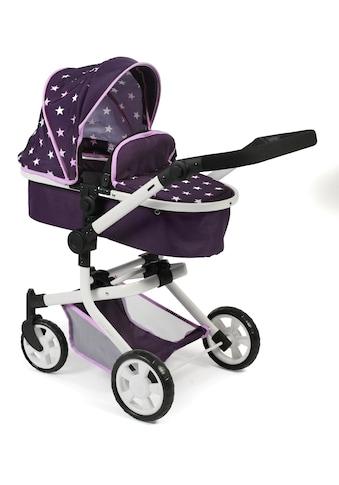 CHIC2000 Kombi-Puppenwagen »Mika, Stars lila«, mit schwenkbaren Vorderrädern kaufen