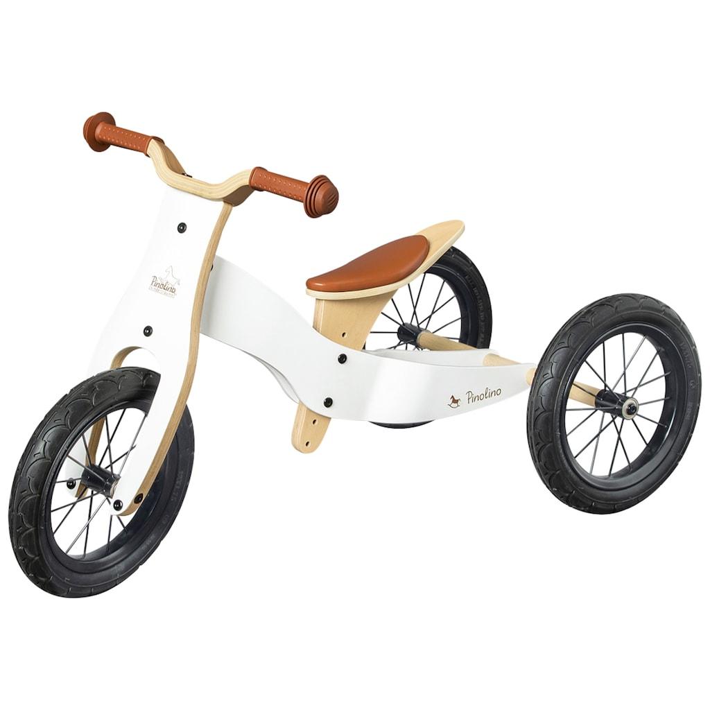 Pinolino® Laufrad »Laufrad Oskar weiß/natur«, umbaubar zum Lauflerndreirad