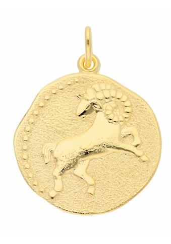 Adelia´s Kettenanhänger »333 Gold Sternzeichen Anhänger Widder Ø 18,2 mm«, Goldschmuck... kaufen
