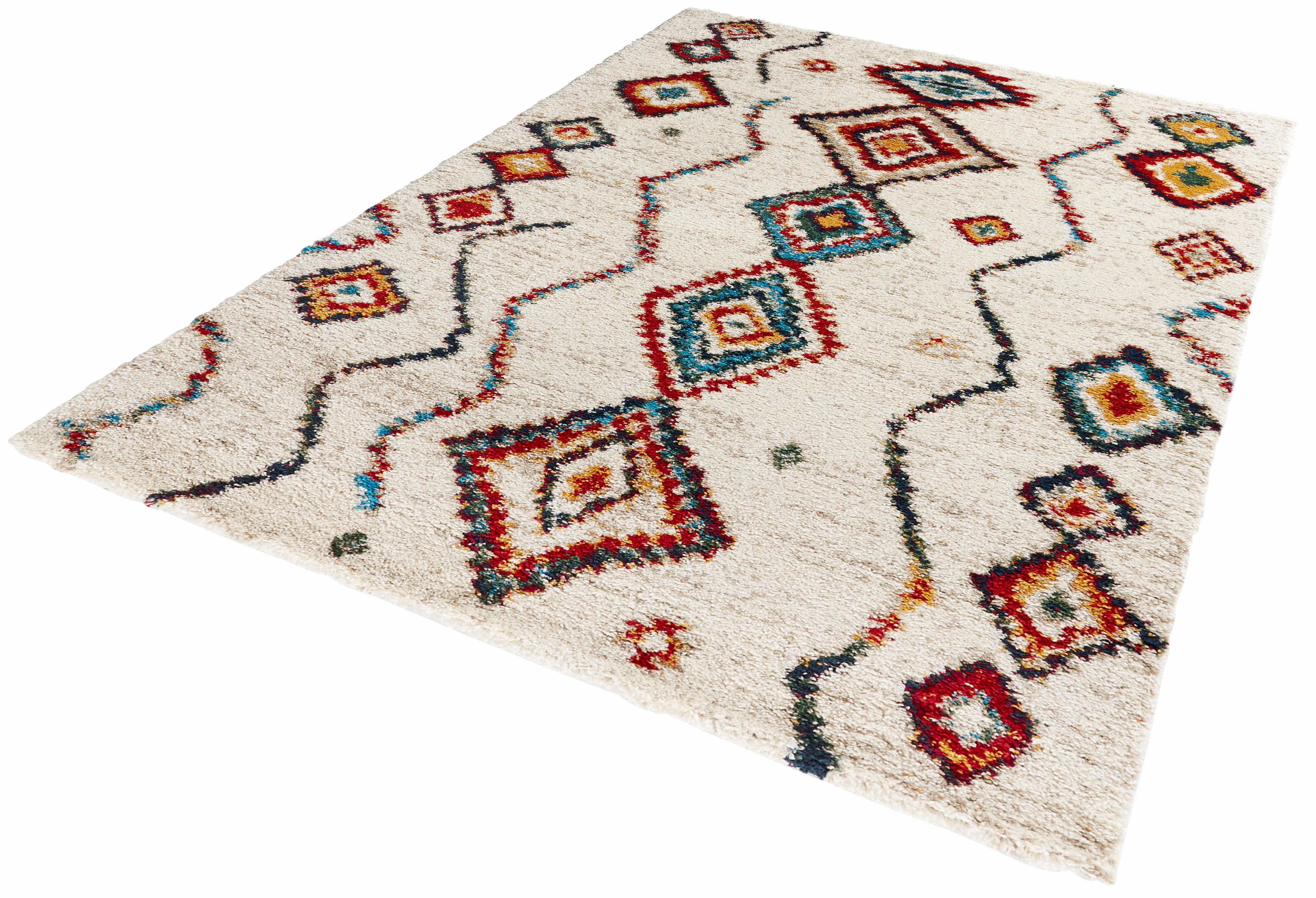 Hochflor-Teppich Geometric MINT RUGS rechteckig Höhe 30 mm
