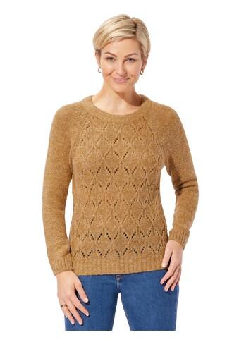Classic Basics Pullover mit Rauten -  und Ajourmuster kaufen