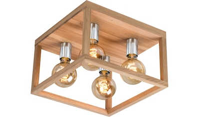 SPOT Light Deckenleuchte »KAGO«, E27, Naturprodukt aus Eichenholz, Nachhaltig mit... kaufen