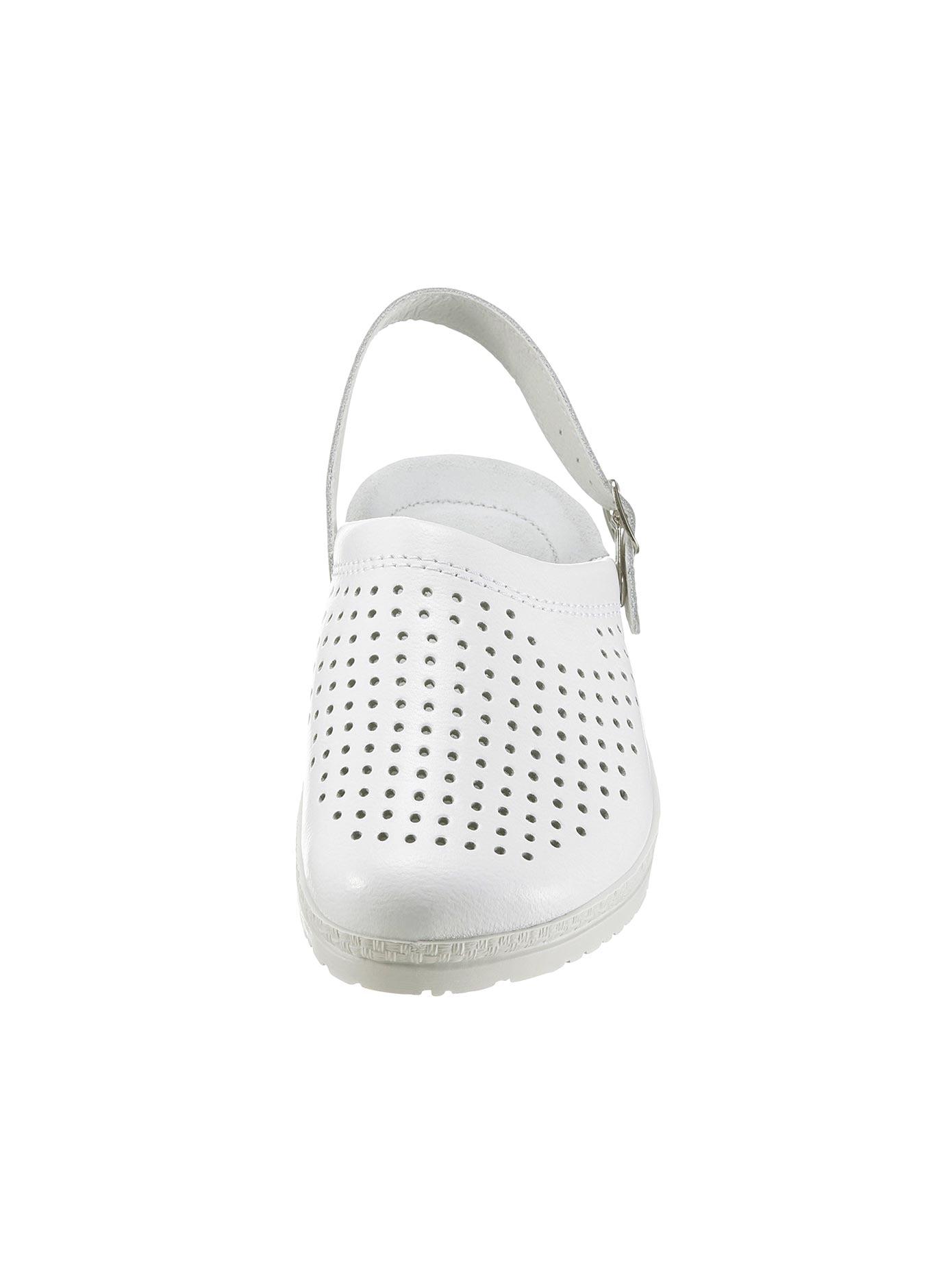 Rohde Pantoffel mit verstellbarer Schließe | Schuhe > Hausschuhe > Pantoffeln | Weiß | Leder | Rohde