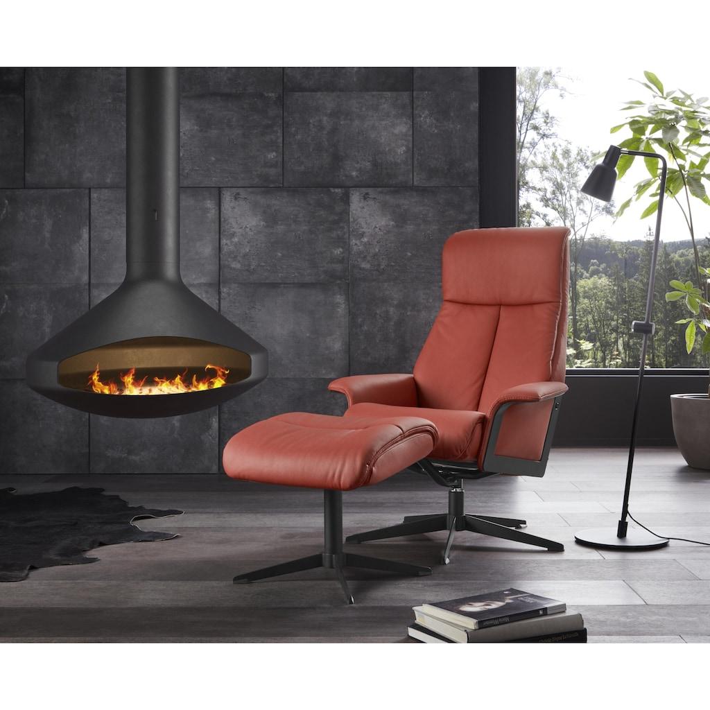 Relaxsessel »Westby«, von IMG, incl. Hocker, in NaturLEDER und Luxus-Microfaser