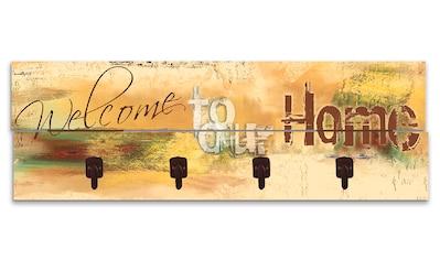 Artland Garderobenpaneel »Willkommen in unserem Zuhause«, platzsparende Wandgarderobe... kaufen