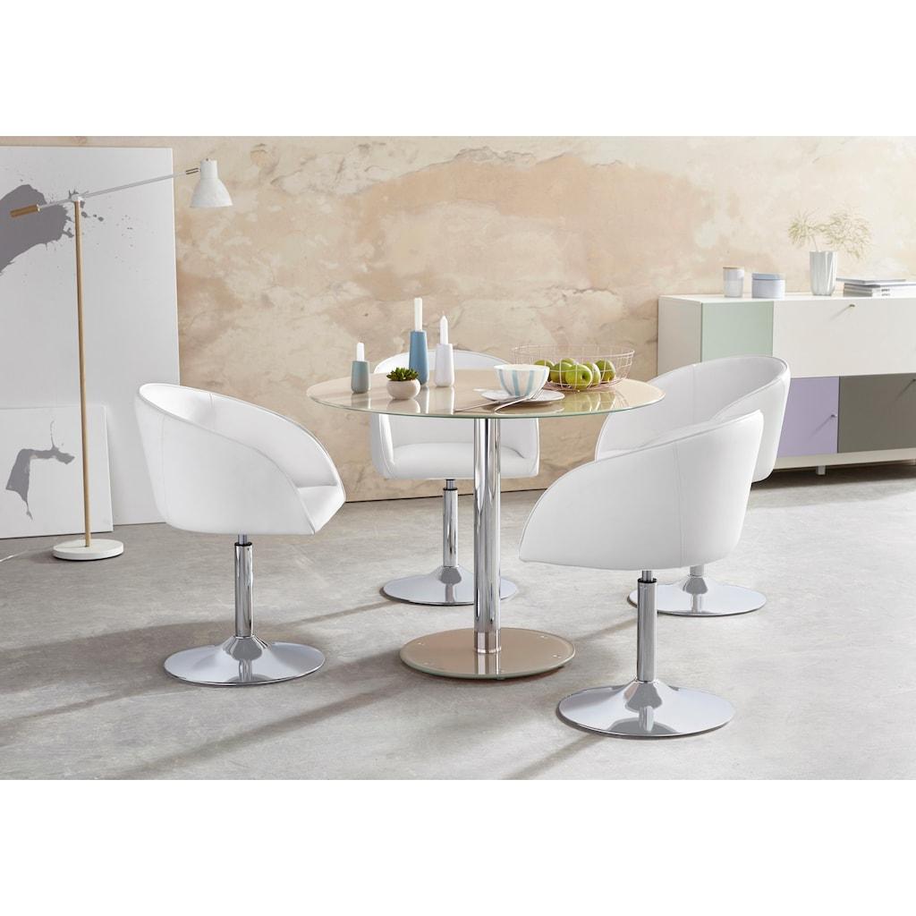 MCA furniture Glastisch »Falko«, mit Glasplatte