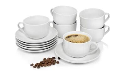 SÄNGER Kaffeeservice »New Port«, (12 tlg., Kaffeetassen Set New Port aus Porzellan 12... kaufen