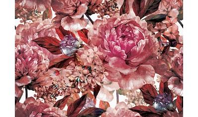 Consalnet Papiertapete »Hellroter Blumen Mix«, floral kaufen